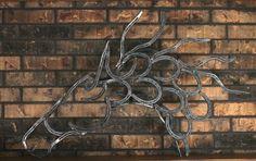 Horseshoe Horse Head Wall Art by RedRiverIron on Etsy, $250.00