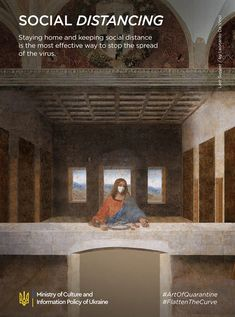 Our 9 Classical Art Posters Adjusted To Quarantine - Viral pictures of the day: Our 9 Classical Art Posters Adjusted To Quarantine Classical Art Memes, Social Campaign, Campaign Posters, Art Jokes, Last Supper, Magritte, Famous Art, Funny Art, Photos Du