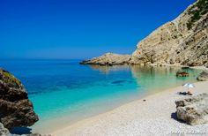 Fantastic beach scene at Petani beach, Kefalonia