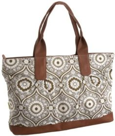 Amy Butler Abina Oversized Tote,Treasure Box Cinder,one size