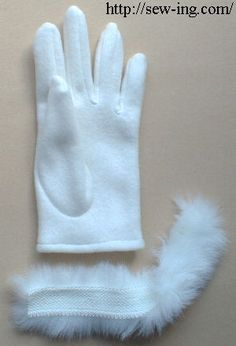 How to make gloves  Have you thought you can sew gloves of cloth? It's rather easy. Why not try?
