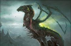 Mythological Creatures, Fantasy Creatures, Mythical Creatures, Creatures 3, Dnd Dragons, Mtg Art, Creature Concept Art, Fantasy Dragon, Imagine Dragons