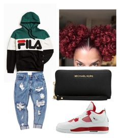 """""""Red fits well on me"""" by brejeasmith on Polyvore featuring Fila, OneTeaspoon and Michael Kors"""