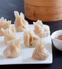 green tea-steamed shrimp dumplings | happy chinese new year