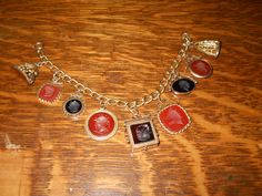 Bracelet made with antique carnelian wax seals fobs._Judith Walker's Collection