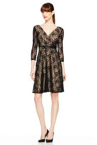 Floral Lace Fit and Flare Dress - Just In at Maggy London