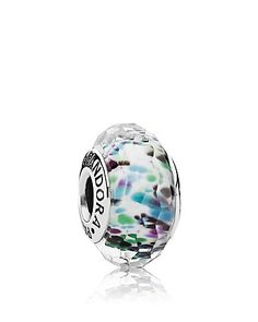 PANDORA Charm - Sterling Silver & Murano Glass Multi Sea Glass | Bloomingdale's