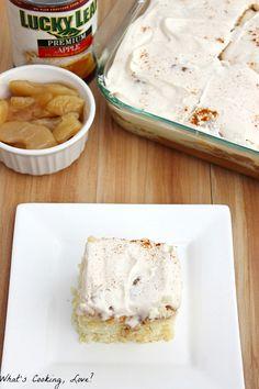 Caramel Apple Poke Cake - Whats Cooking Love?