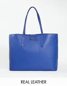 Enlarge Whistles Leather Tote Bag  $369 - this is leather.  I keep coming back to this gorgeous blue - will everyone have this or will it be cool and current???
