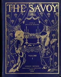 The Savoy, No 1, London, 1896. Front cover design by Aubrey Beardsley.  (Source: archive.org)