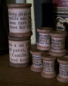 French spools #vintage #spools #french