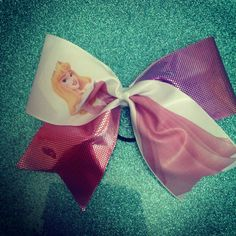 Disney princess sleeping beauty cheer bow by Puttinontheglitzbows, $14.00