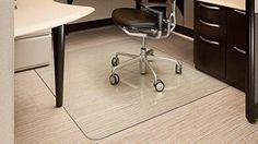 "Vitrazza 42"" x 48"" Glass Office Chair Mat"