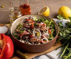 Food Categories, Mediterranean Recipes, Food Styling, Cobb Salad, Acai Bowl, Diet Recipes, Seafood, Salads, Menu
