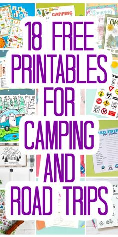 These 18 free printables are perfect for those camping and road trips this summer! Print for free then use these ideas to keep the kids entertained. #printables #freeprintables #kids #summer #trips Road Trip Activities, Road Trip Games, Daycare Schedule, Camping Glamping, Camping Ideas, Home Binder, Book Markers, Road Trippin, Best Vacations