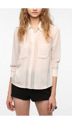 Sheer Paneled Blouse | 10 New Fashion Finds to Kick Off a Stylish Year #style #fashion #trends
