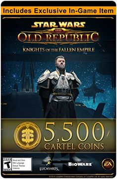 Star Wars The Old Republic  5500 Cartel Coins  Exclusive Item Online Game Code >>> Click image for more details.