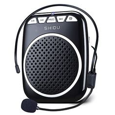 A voice amplifier can help your loved one speak without trying to raise their voice and others can hear. Zoweetek SHIDU Portable Rechargeable Mini Voice Amplifier With Wired Microphone Headset and Waistband for Teachers, Tour Guides, Coacher, Singing, Training and Presentation (S308-Black)