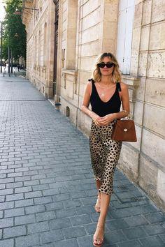 A ladylike look in cheetah