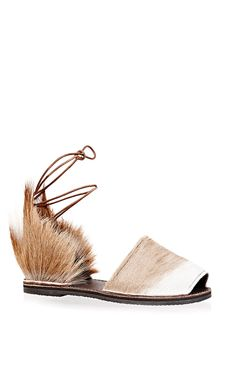 Seriously CUTE- but it's so cold outside! Springbok Congo Sandal by Brother Vellies for Preorder on Moda Operandi