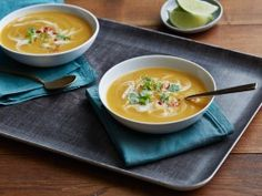 Roasted Butternut Squash Soup with Chili Ginger from CookingChannelTV.com