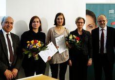 Gruppenbild mit den beiden Stipendiatinnen und der stellvertretenden Generalsekretärin der DGVN, Frau Anja Papenfuß.