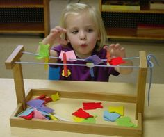 Toddler play with a purpose. Fine motor skills