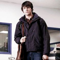 Sam winchester - Jared Padalecki... he is so young and freaking adorable!!