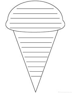 ice cream writing prompt | Ice Cream Cone: Shape Poem