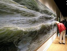 "An amazing piece of art - ""Open Water"" oil painting on canvas by Ran Ortner Realistic Oil Painting, Oil Painting On Canvas, Oil Paintings, Hyperrealism Paintings, Ocean Paintings, 3d Painting, 3d Street Art, Wow Art, Open Water"