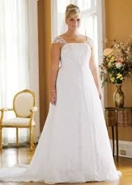 Possible Wedding Dress 5: David's Bridal A-line with Chiffon Split Front Overlay Style 9V9010