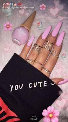 Beautiful pink long nails acrylic nails for summer coffin, long acrylic nails, coffin nails Long Nail Designs, Acrylic Nail Designs, Pink Nails, My Nails, Long Gel Nails, Nails Kylie Jenner, Best Acrylic Nails, Acrylic Nails For Summer Coffin, Plain Acrylic Nails
