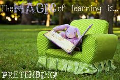 The Magic of learning is Pretending..great article about pretend play and it's importance!