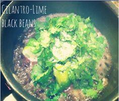 Cilantro-Lime Black Beans