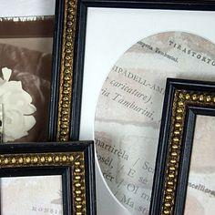 4x6 Black & Gold Boules Photo Frame in Shabby par mackenzieframes, $22,00