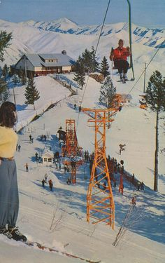 Baldy Mtn., Sun Valley, IDAHO.   Brighton, UTAH had a single chairlift into the 1970's..Millicent Chairlift.