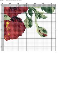 Fotos de la comunidad Counted Cross Stitch Patterns, Cross Stitch Designs, Cross Stitch Embroidery, Cross Stitch Rose, Cross Stitch Flowers, Flower Designs, Red Roses, Photo Wall, Knitting