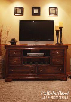 DIY - Dresser to Wood TV Console with Extra Storage  Callista Bond Art & Photography