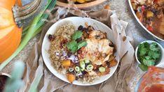 Vous ne savez pas quoi faire avec votre citrouille? Voici une recette parfaite et réconfortante! Sin Gluten, Salsa Curry, Chili, Albondigas, Mets, Paella, Ethnic Recipes, Sauce, Indian