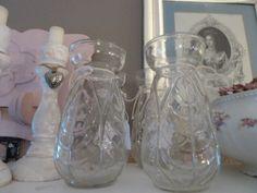 Glas bluebell vase/ glazen hyacint vaas.