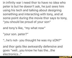 They practically are father and son, so I wouldn't blame Thor!