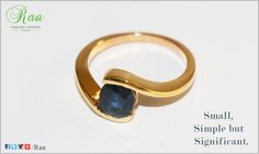 Small, Simple but Significant.  #Gold #BlueSapphire #Ring  #Raa #Customized #jewelry #Chennai