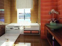 Bathroom interior design made of Zorka Keramika Tiles - Millennium Collection