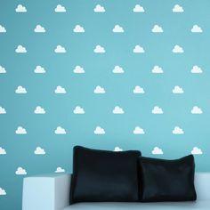 Les nuages blanc - 3,75 pouces - Tattoo - Tatouage temporaire - PiCO