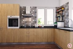 Innovative & New Kitchen Cabinet Design: Modular Kitchen Kitchen Design Open, New Kitchen Designs, Kitchen Cabinet Design, Kitchen Modular, Wooden Kitchen, White Interior Design, Interior Design Kitchen, Straight Kitchen, Small Modern Kitchens
