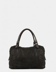 f30e597dcfc75 Handbag Genuine Leather Perforated Grey Reptile s House