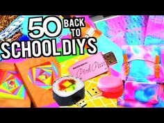 25 DIY SCHOOL SUPPLIES PROJECTS FOR Back To School 2016-2017! - YouTube
