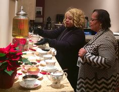 Gourmet Tea Bar at the Red Carpet event for a Christmas event at Rahway theatre www.takingteainstyle.com