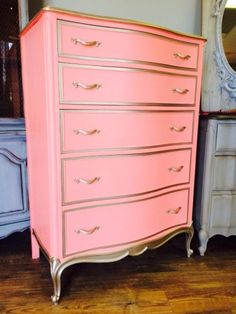 Painted Dressers using American Paint Company's All Natural Chalk and Clay Paint
