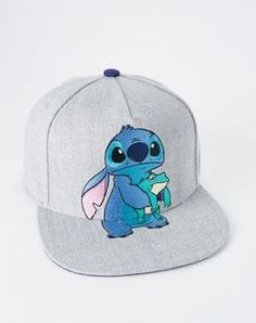 Stitch Frog Snapback Hat - Lilo & Stitch - If you can't get enough of Stitch, then you're going to fall in love with this fun snapback! This gray hat features Stitch holding his favorite frog, making it the perfect accessory for any Lilo & Stitch fan!